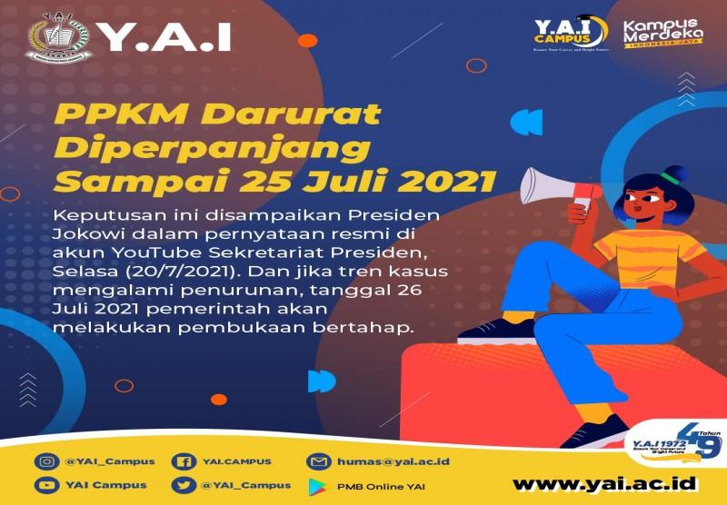 PPKM Darurat Diperpanjang Sampai 25 Juli 2021