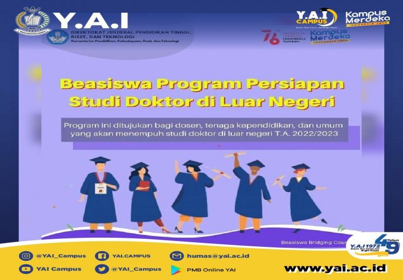 Beasiswa Program Persiapan Studi Doktor di Luar Negeri