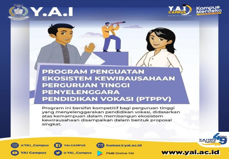Program Penguatan Ekosistem Kewirausahaan Perguruan Tinggi Penyelenggara Pendidikan Vokasi (PTPPV)